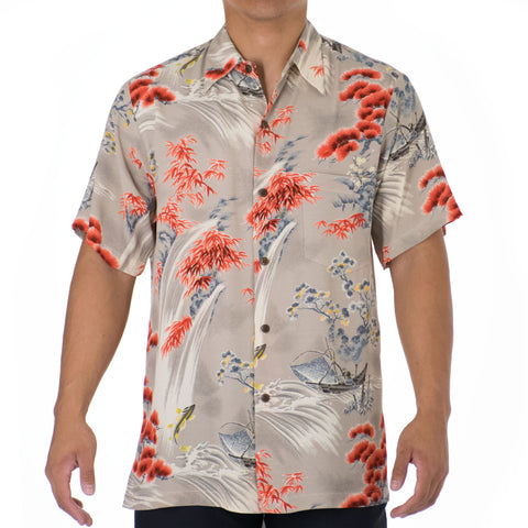 FISHERMAN MODERN FIT ALOHA SHIRT