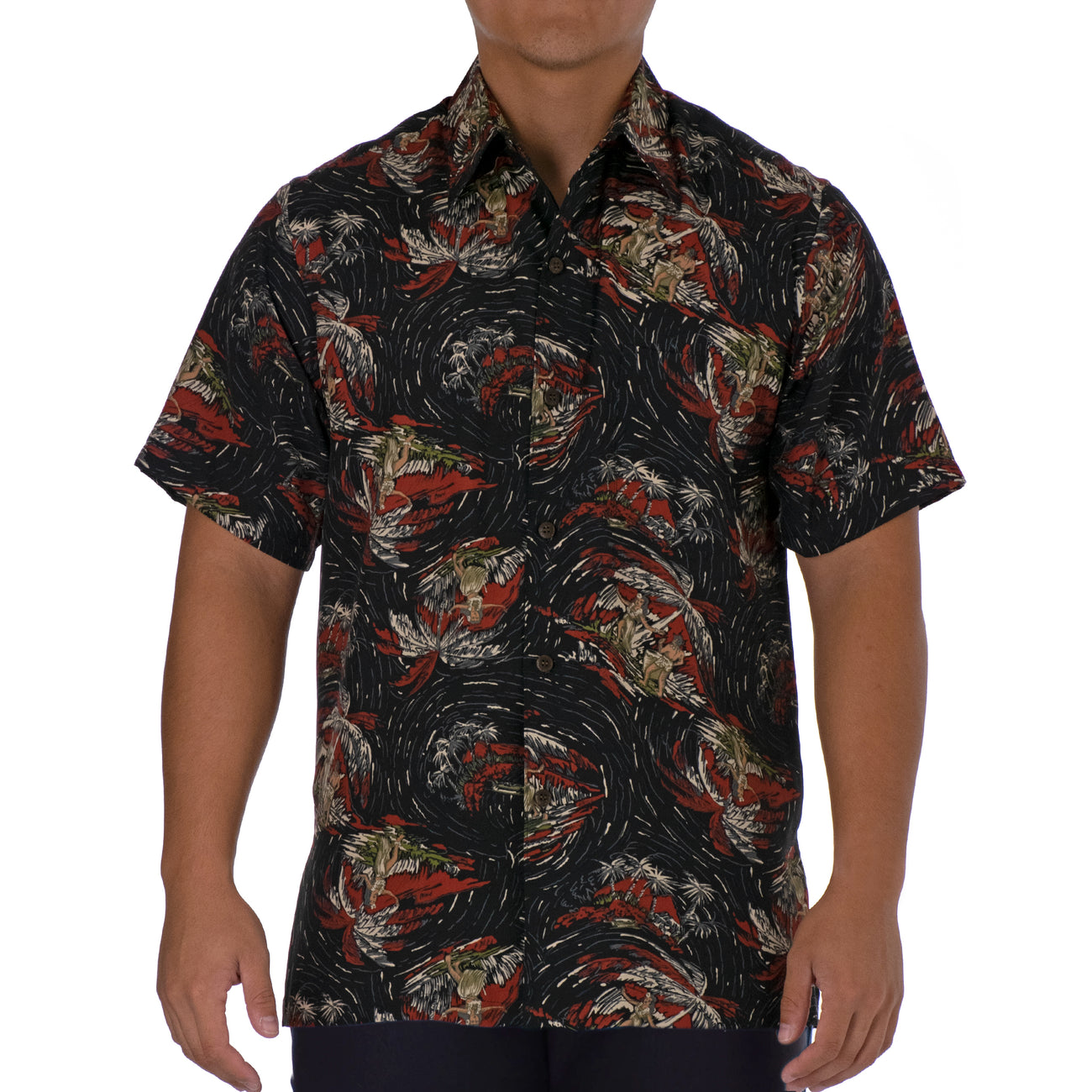 HULA PALM MODERN FIT ALOHA SHIRT