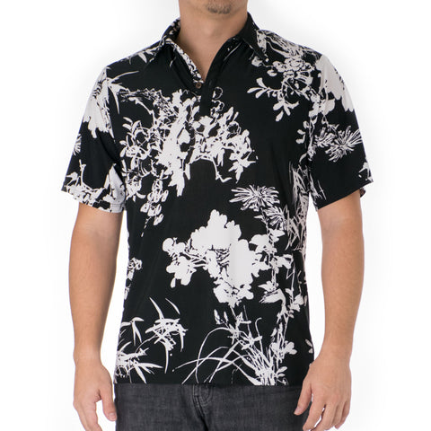 BAMBOO ALOHA POLO KNIT SHIRT