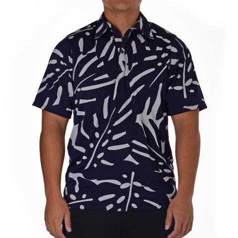 EMMA ALOHA POLO KNIT SHIRT