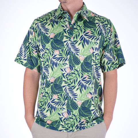 'IOLANI x HELLO KITTY PANILAU ALOHA POLO KNIT SHIRT