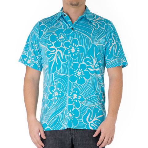 TROPICAL TWIST ALOHA POLO KNIT SHIRT