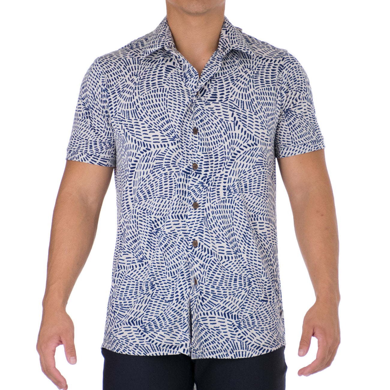 MAKANI MENS KNIT BUTTONDOWN SHIRT