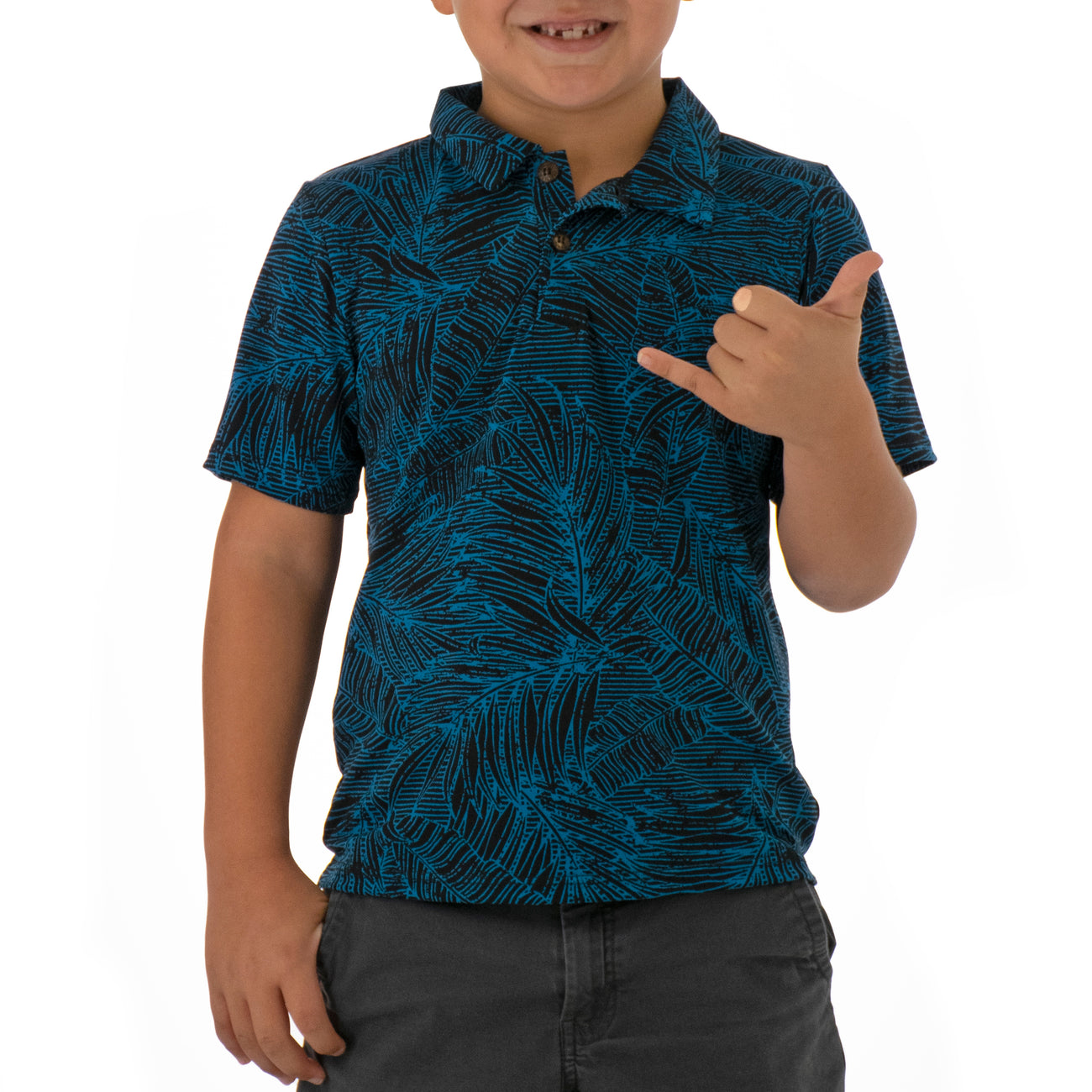KAMA BOYS KNIT POLO