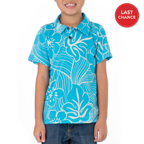 TROPICAL TWIST BOYS KNIT POLO