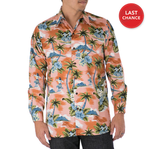 COCO ISLES LONG SLEEVE ALOHA SHIRT