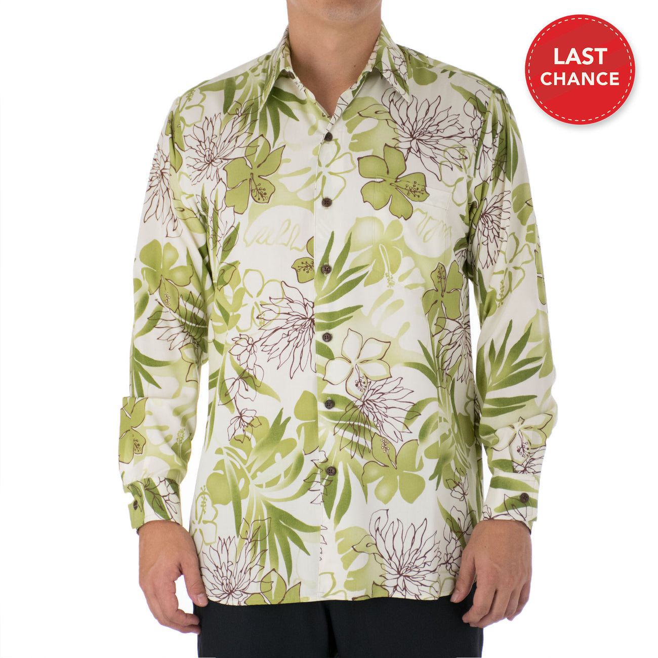 NAPUA LONG SLEEVE ALOHA SHIRT
