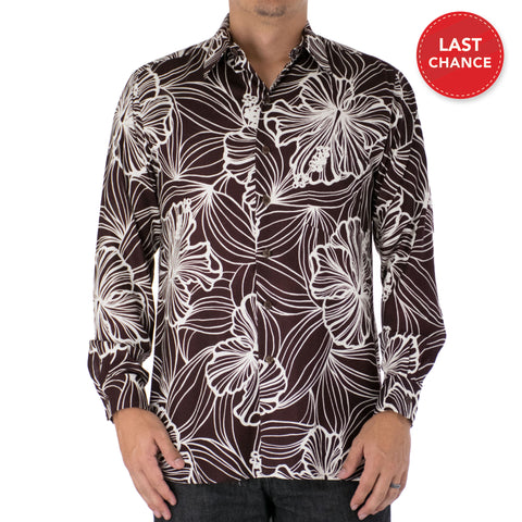STELLAR LONG SLEEVE ALOHA SHIRT