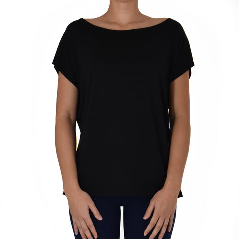 SOLID BOATNECK TEE