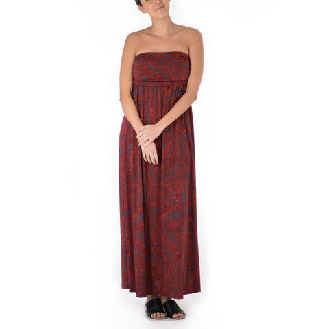 KAMA BANDEAU TOP MAXI KNIT DRESS