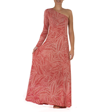 LAKA ONE SHOULDER HULA DRESS WITH SLEEVE