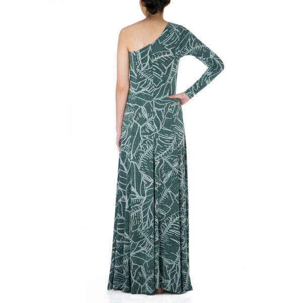 WAIPIʻO ONE SHOULDER HULA DRESS WITH SLEEVE