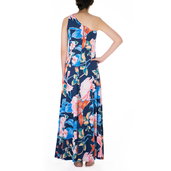 SAKURA ONE SHOULDER HULA DRESS