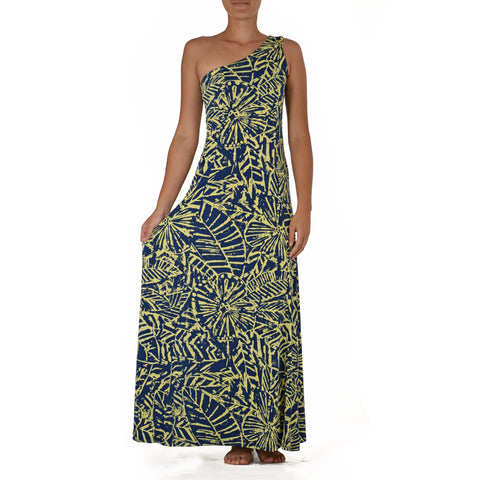 KALA ONE SHOULDER HULA DRESS