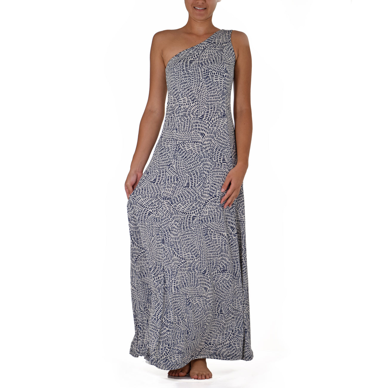 MAKANI ONE SHOULDER HULA DRESS