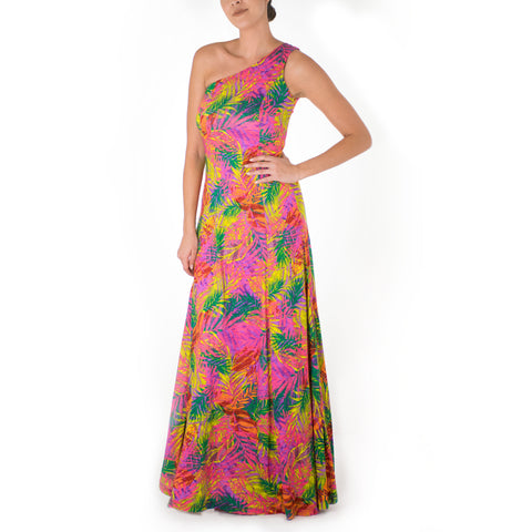 LAHELA ONE SHOULDER HULA DRESS