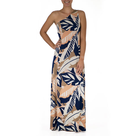 WAI'OLU ONE SHOULDER HULA DRESS