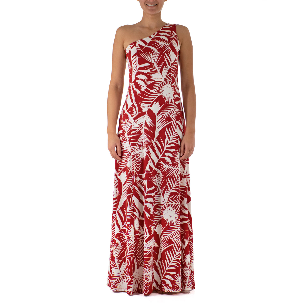 KIANA ONE SHOULDER HULA DRESS