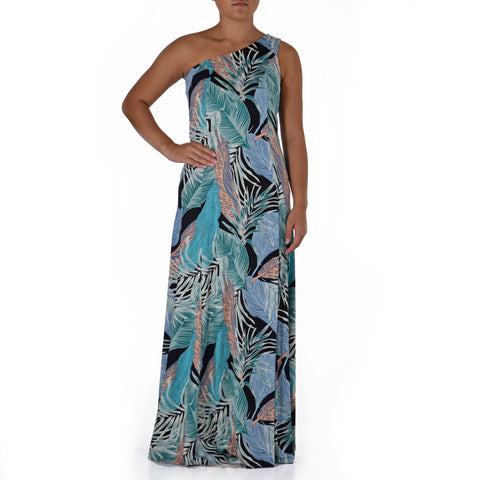 WAILEA ONE SHOULDER HULA DRESS
