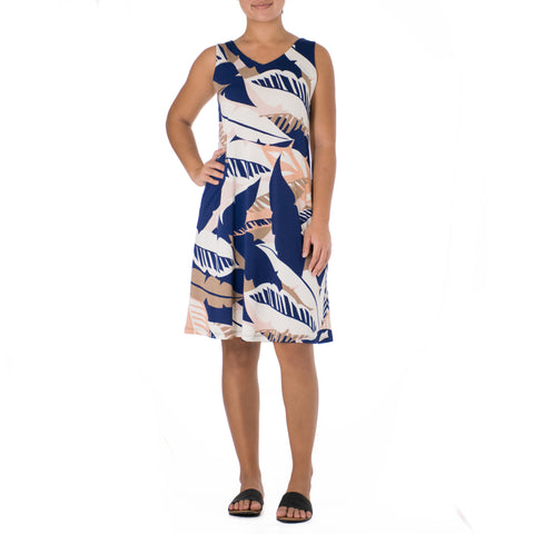 WAI'OLU SHORT V-NECK TANK DRESS