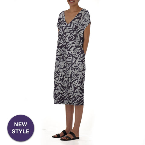 KAPA FLORAL CAFTAN KNIT DRESS