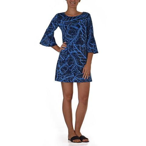 WAIPI'O BELL SLEEVE SHORT KNIT DRESS