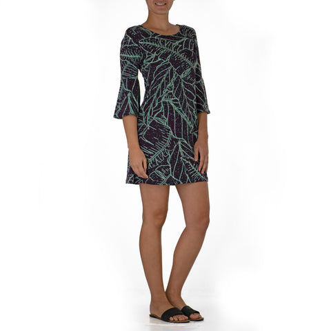 WAIPIʻO BELL SLEEVE SHORT KNIT DRESS