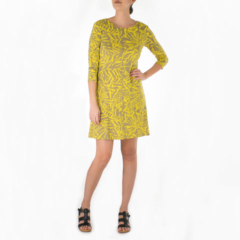 KALA SHORT 3/4 SLEEVE SHEATH DRESS