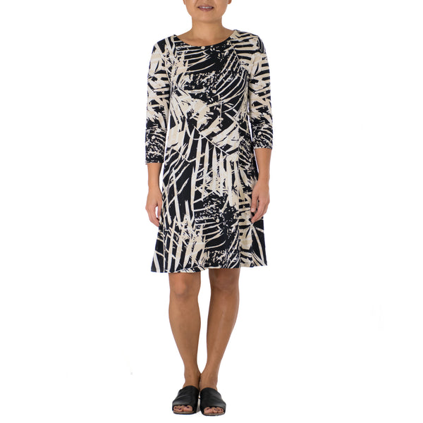 LUANA SHORT 3/4 SLEEVE SHEATH DRESS