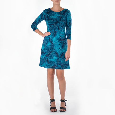 OLA SHORT 3/4 SLEEVE SHEATH DRESS
