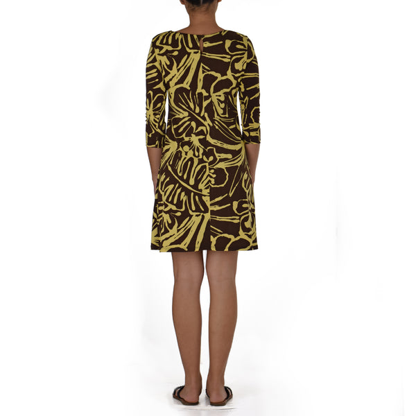 PILI SHORT 3/4 SLEEVE SHEATH DRESS