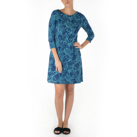 PUPUHINU SHORT 3/4 SLEEVE SHEATH DRESS