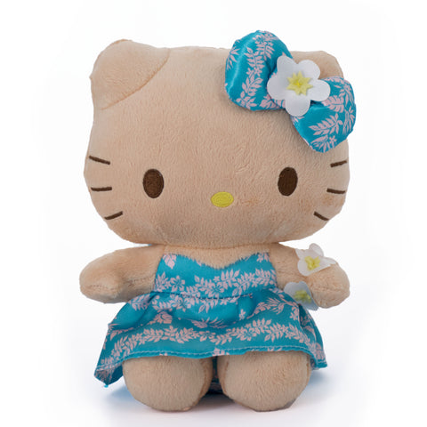 "'IOLANI x HELLO KITTY PUAMANU BLUE 8"" PLUSH"