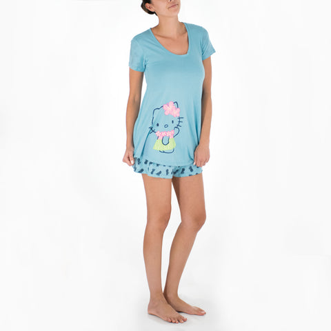 'IOLANI x HELLO KITTY PINEAPPLE TEE + SHORTS SET