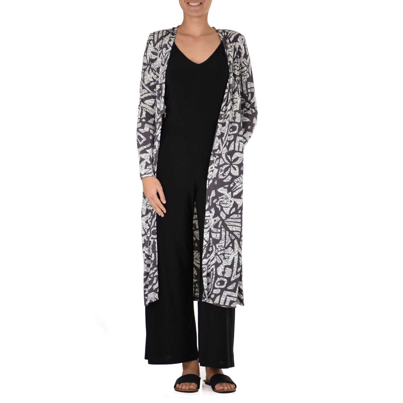 KAPA FLORAL LONG CARDIGAN
