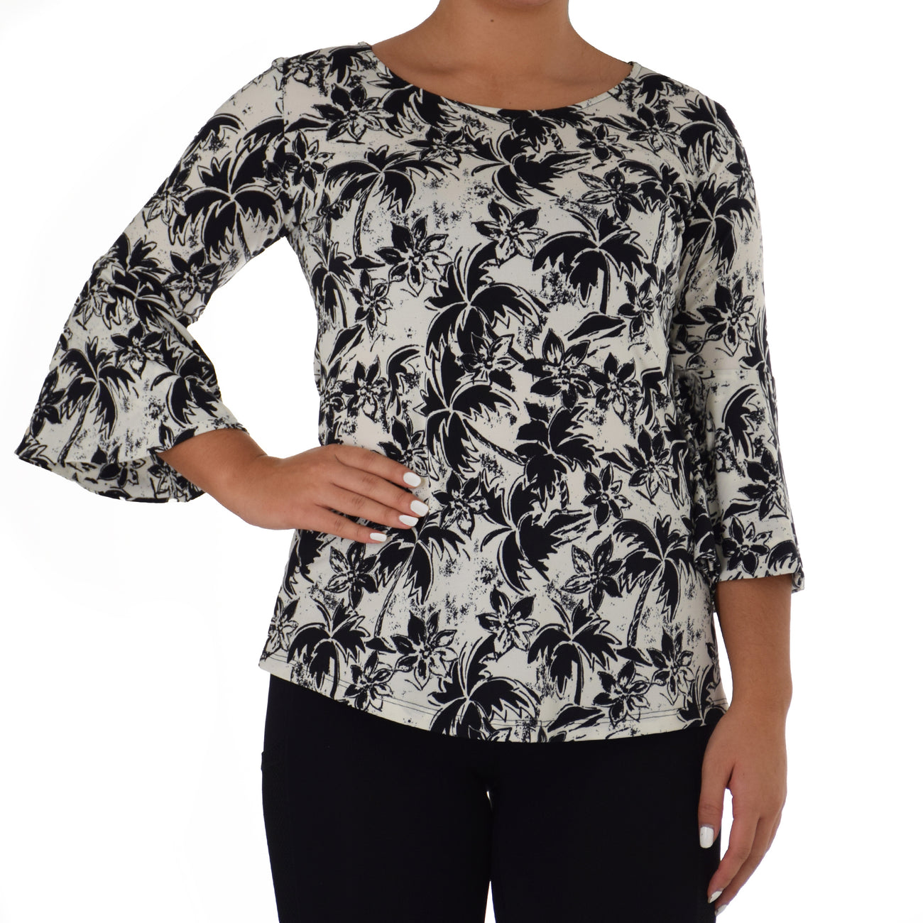 NAPE BELL SLEEVE TOP