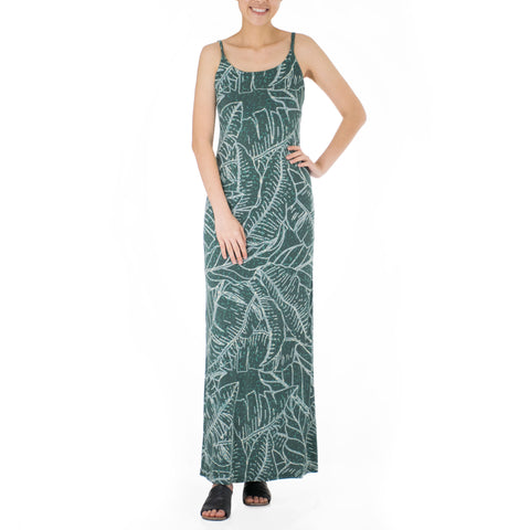 WAIPIʻO STRAP WITH BACK SLIT LONG DRESS