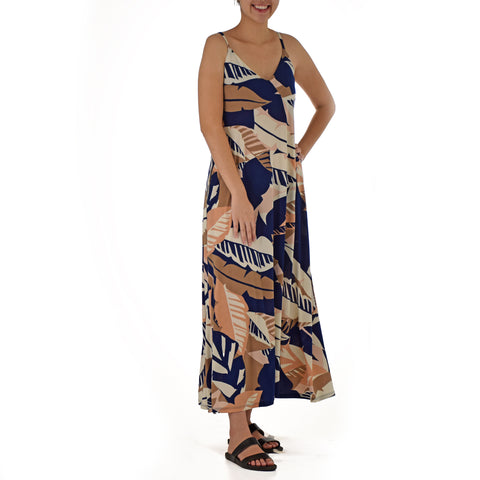 WAI'OLU STRAP RACERBACK LONG DRESS