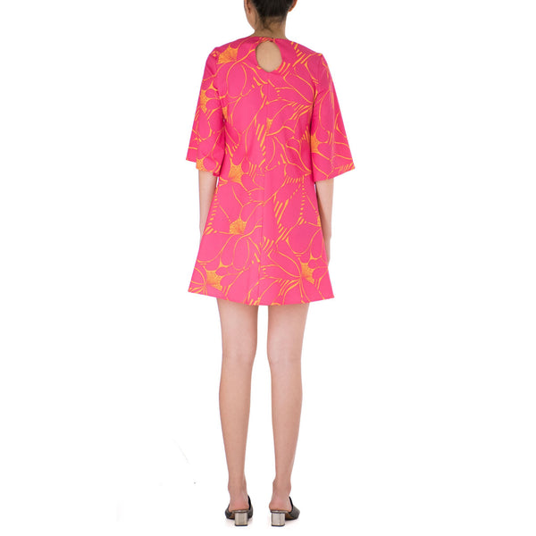 PUANUI BELL SLEEVE SHIFT DRESS