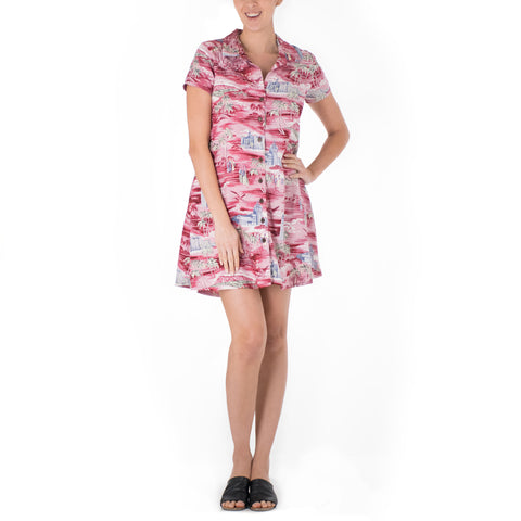 ALOHA TOWER ALOHA SHIRT DRESS
