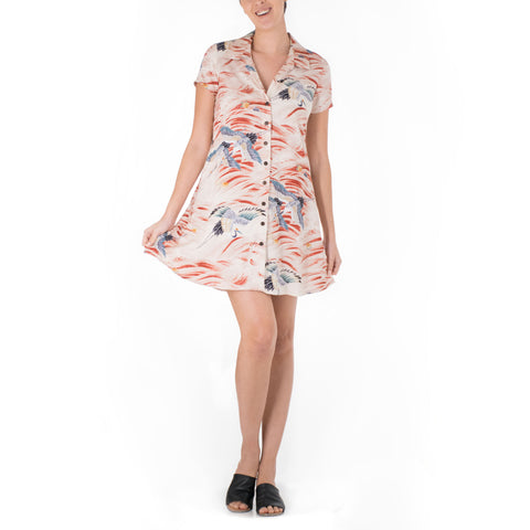 'IO BIRD ALOHA SHIRT DRESS