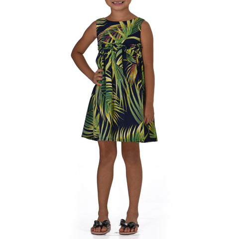 ŌKUPU GIRLS SLEEVELESS EMPIRE DRESS