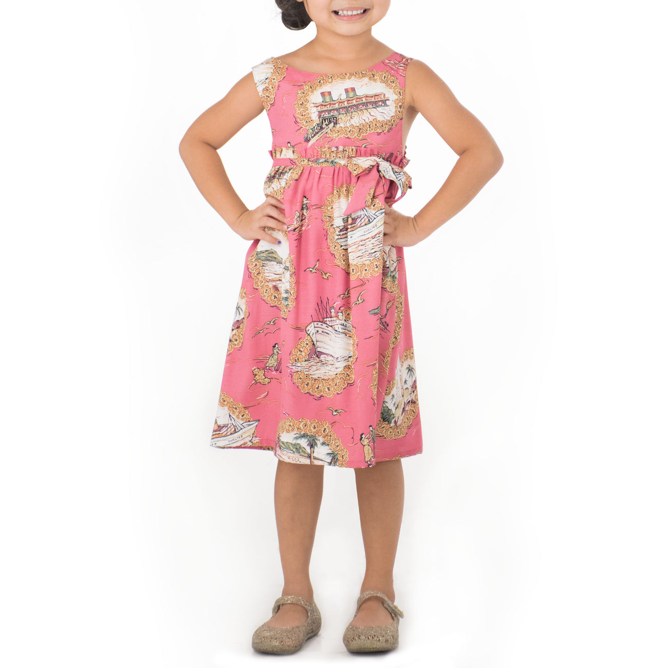 MATSONIA GIRLS SLEEVELESS EMPIRE DRESS