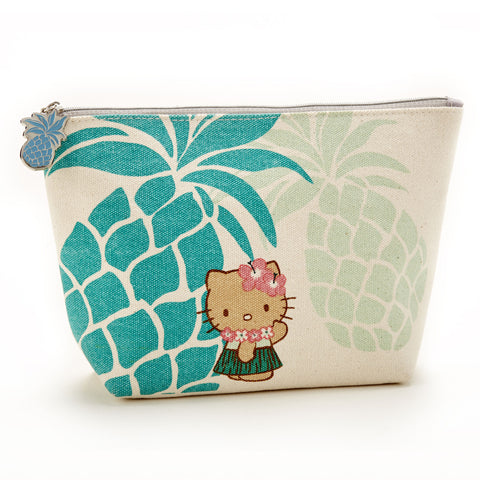 'IOLANI x HELLO KITTY CANVAS PINEAPPLE POUCH