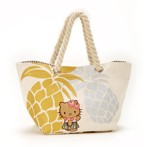 'IOLANI x HELLO KITTY SMALL CANVAS PINEAPPLE TOTE