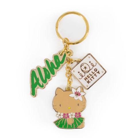 'IOLANI x HELLO KITTY METAL KEY CHAIN