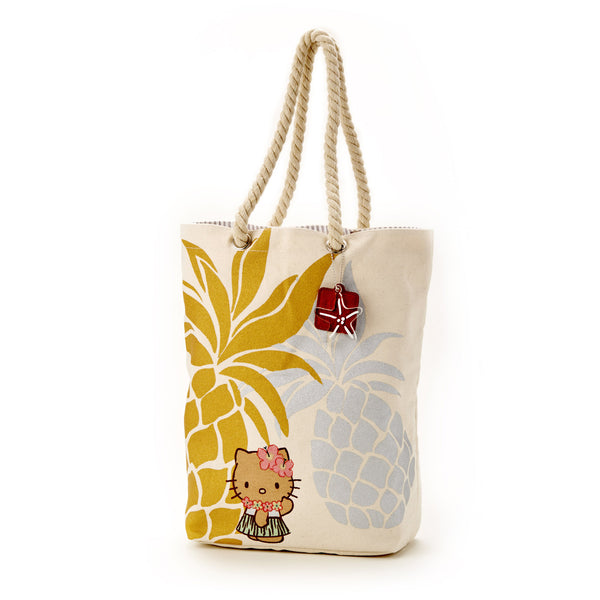 'IOLANI x HELLO KITTY CANVAS PINEAPPLE TOTE
