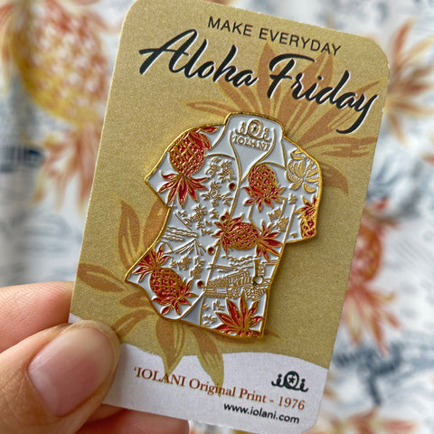 Aloha Shirt Metal Pin