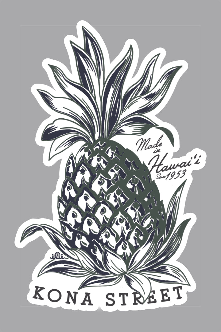 PINEAPPLE KONA STREET - STICKER
