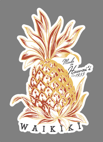 PINEAPPLE WAIKIKI - STICKER